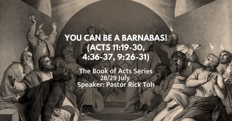 [Sermon] You can be a Barnabas!