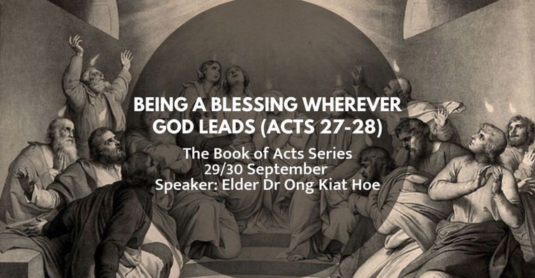 [Sermon] Being a Blessing Wherever God Leads