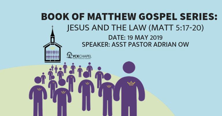 Jesus And The Law (Matt 5:17-20)